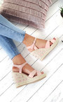 Cali Studded Strap Roped Wedges Thumbnail
