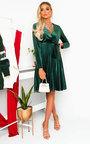 Capri Velvet Tie Wrap Dress  Thumbnail