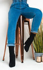Cara Lycra Block Heeled Ankle Boots Thumbnail
