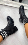 Cara Printed Lace Up Ankle Boots Thumbnail