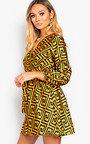 Cara Printed Wrap Dress Thumbnail