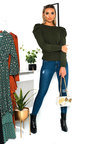 Cara Puffed Sleeve Jumper Thumbnail