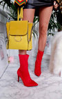 Cardi Lycra Heeled Ankle Boots Thumbnail