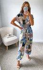 Carina Printed Oversized Jumpsuit Thumbnail