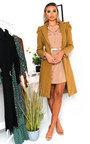 Carla Puff Sleeve Coat Thumbnail