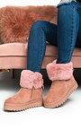 Carlee Faux Fur Desert Boots Thumbnail