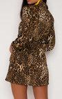 Carley Leopard Print Frill Dress Thumbnail