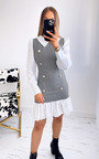 Carly 2 in 1 Shirt Dress with Check Print Thumbnail