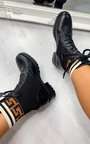 Carmen Printed Lace Up Ankle Boots Thumbnail