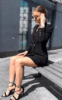 Carris Gold Button Blazer Dress Thumbnail