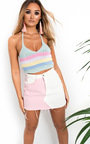Carter Knitted Halterneck Stripe Crop Top Thumbnail