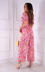 Cartia Floral Puff Sleeve Jumpsuit  Thumbnail