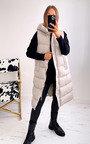Carys Sleeveless Longline Hooded Gilet Thumbnail