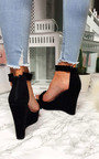 Casey Faux Suede Frill Wedges Thumbnail