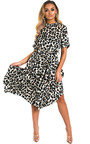 Cassandra Printed Frill Midi Dress Thumbnail