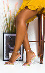 Cassie Barely There Perspex Statement Heels Thumbnail