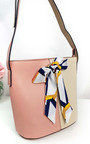 Cassie Two Tone Ribbon Handbag Thumbnail