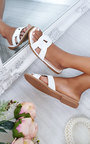 Cat Faux Leather Slip On Sandals Thumbnail