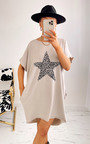 Cece Star Print T-Shirt Dress Thumbnail