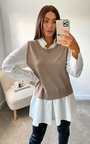 Cecilia 2 in 1 Knitted Sweater Shirt  Thumbnail