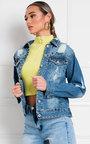 Cecilia Studded Embellished Denim Jacket Thumbnail