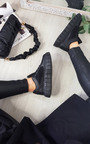Celine Quilted Chunky Sole Trainers Thumbnail
