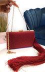 Celine Sparkle Tassel Clutch Bag Thumbnail