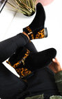 Charlee Leopard Faux Suede Ankle Boots Thumbnail
