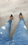 Charlotte Distressed Straight Leg Jeans Thumbnail