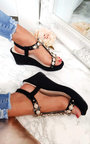 Charlotte Embellished T-Bar  Wedges Thumbnail