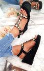 Charlotte Embellished T-Bar  Wedges Thumbnail