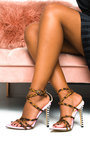 Charlotte Multi Print Strappy Pointed High Heels  Thumbnail