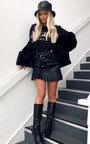 Cher Faux Leather Pleated Mini Skirt  Thumbnail