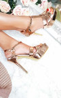 Cherie T-Bar Patent High Heels Thumbnail