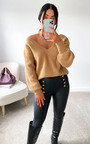 Cheryl Faux Leather Button Leggings Thumbnail