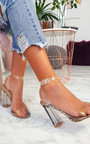 Chlo Barely There Clear Block Heels Thumbnail