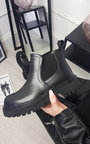 Chloe Faux Leather Chunky Ankle Boots Thumbnail