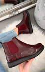 Chrishell Faux Leather Brogue Chelsea Boots Thumbnail