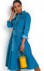 Chrissy Button Up Denim Dress Thumbnail