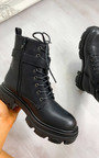 Chrissy Lace Up Biker Boots Thumbnail