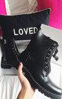 Christie Lace Up Biker Boots Thumbnail