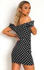 Ciara Polka Dot Bardot Dress Thumbnail