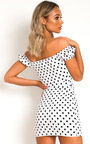 Ciara Polka Dot Bardot Dress Thumbnail