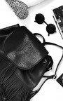 Cindee Faux Leather Fringe Backpack Bag Thumbnail