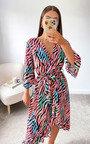 Cindi Printed Midi Dress Thumbnail