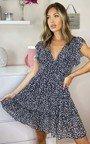 Cinzia Ditsy Print Layered Shift Dress Thumbnail