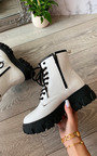 Cinzia Faux Leather Biker Boots Thumbnail