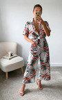 Cinzia Tie Waist Printed Culotte Jumpsuit  Thumbnail