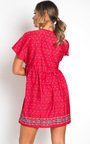 Clara Floral Buttoned Shift Dress Thumbnail