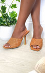 Clarisse Quilted Mule Heels Thumbnail